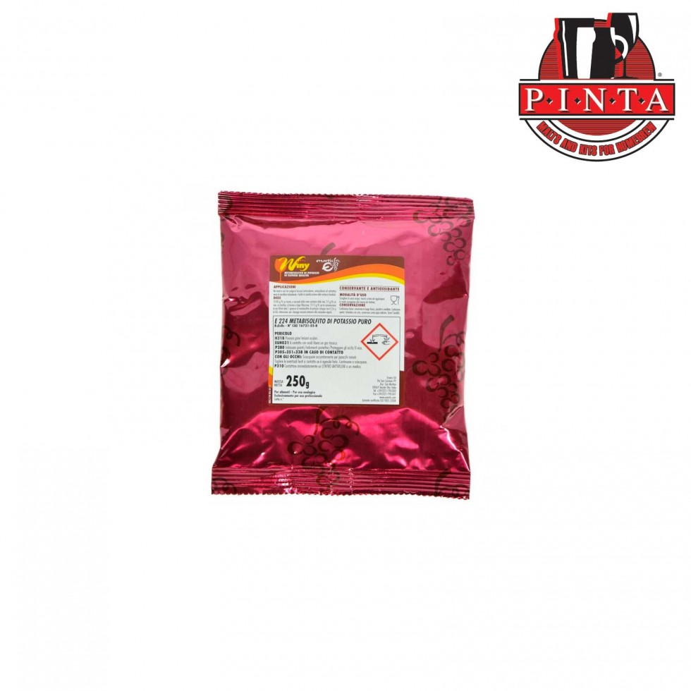 Metabisolfito di potassio 250 gr.