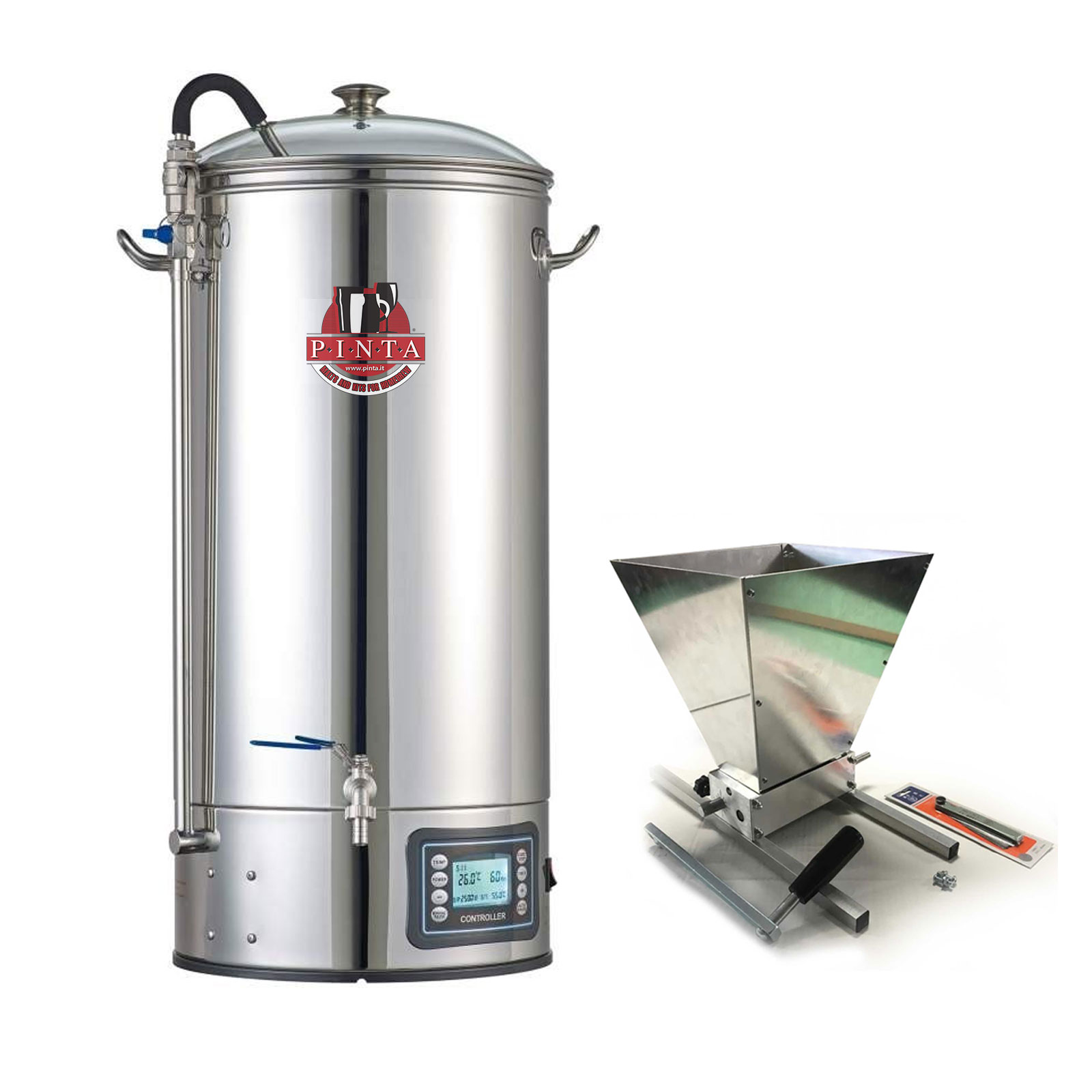 BrewMonster XXL Impianto All in one 50 litri + mulino a rulli homebrewer