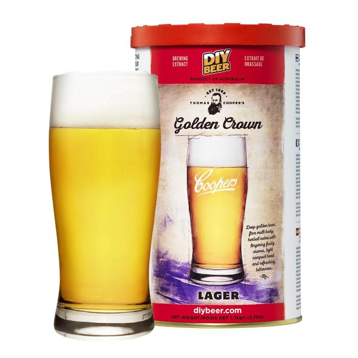 Coopers Golden Crown Lager 1,7 kg.