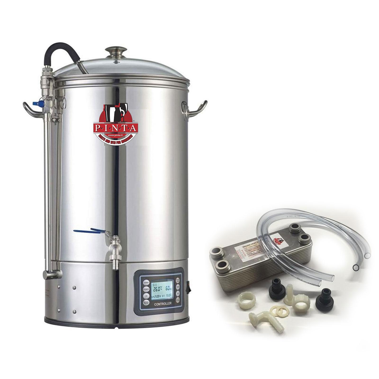 BrewMonster Impianto All in one 30 litri + scambiatore 20 piastre + 1 Kit all Grain Pinta