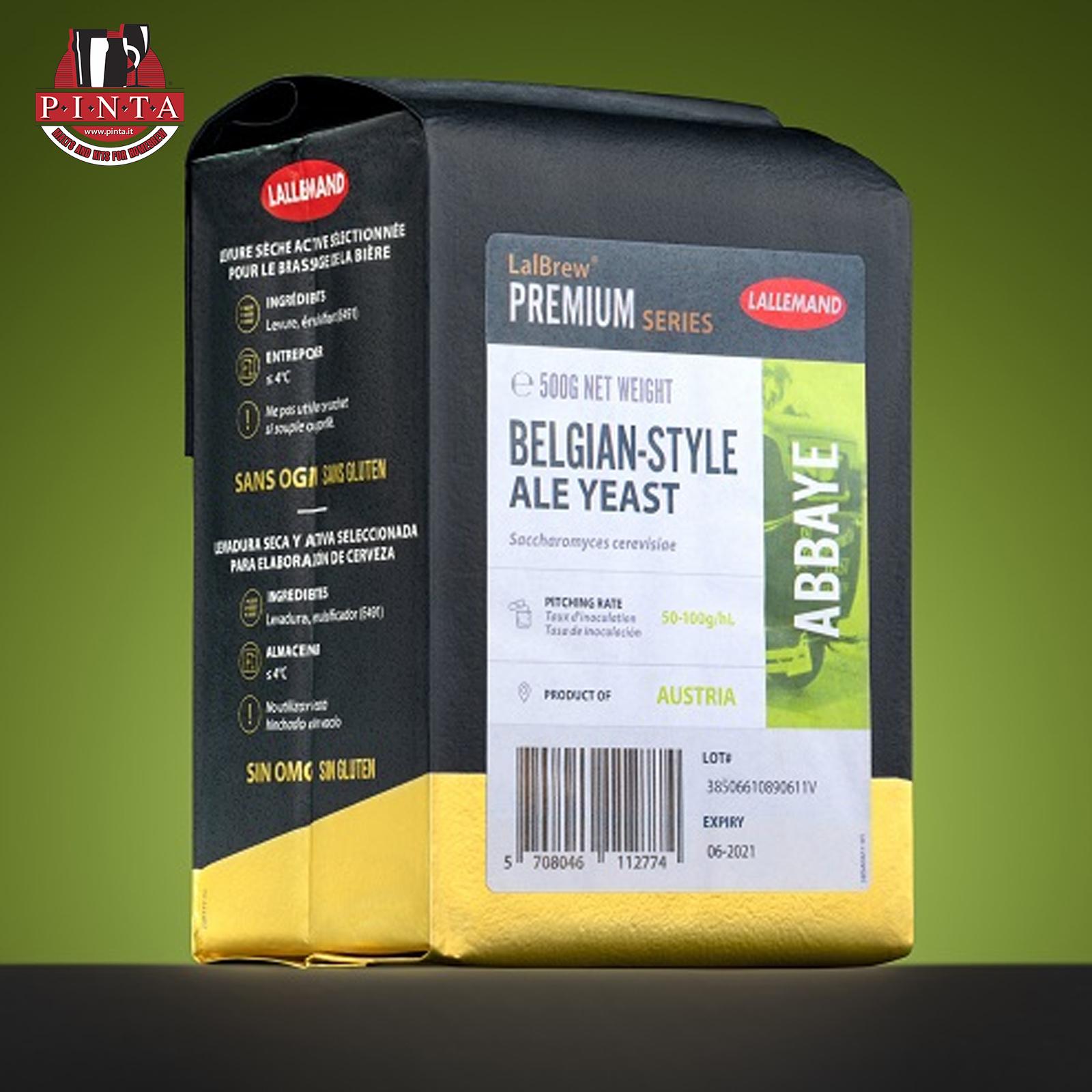 Lievito secco per birra LALLEMAND ABBAYE - Belgian Ale 500gr