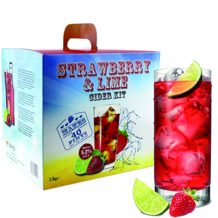 Strawberry and Lime Cider